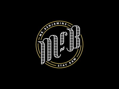 Mr.B branding detailed simple clean lettering ornate logo monogram classic