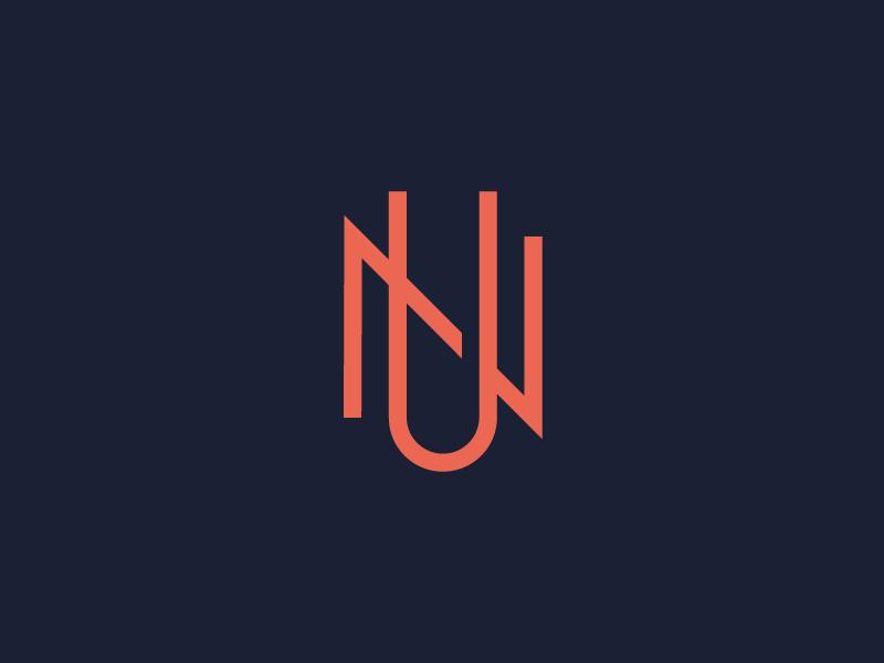 U\N brand mark logo monogram un