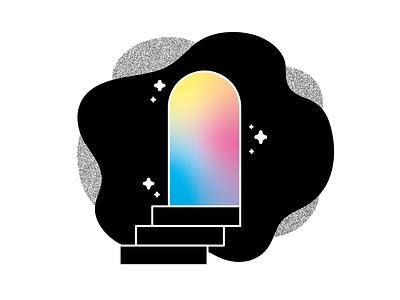It's been a minute grain vector trippy stairway door gradient illustrator drawing doodle design illustration