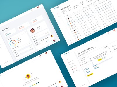 Dashboard for a Loans Web-App web ux ui