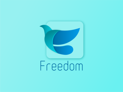 Freedom Logo icon flat vector typography branding design illustration adobe illustrator logo