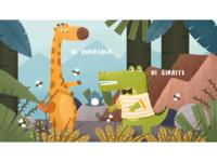 小恐龙与长颈鹿