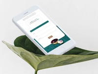 Velvett webpage mobile