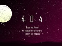 100 Days UI Challenge - 007 404 page