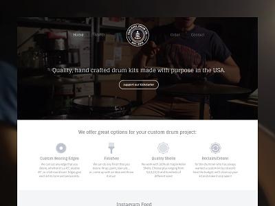 Sublevel Drum Company drums drum drum website drum company branding web clean