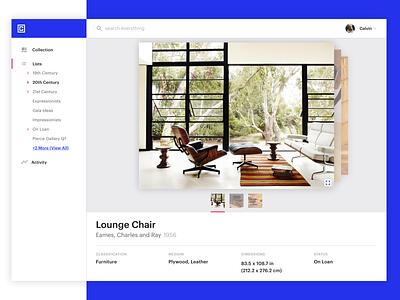 Art Platform - Piece View graphik modern clean interface product art gallery platform design ui metalab