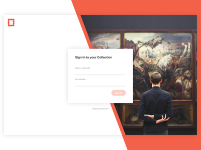 Art Platform - Login ui product platform modern metalab interface graphik gallery design clean art