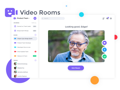 Video Rooms Concept product design fun product platform modern interface clean metalab video chat video app video ui