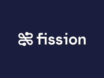 Fission icon logotype wordmark branding identity brand logo clean