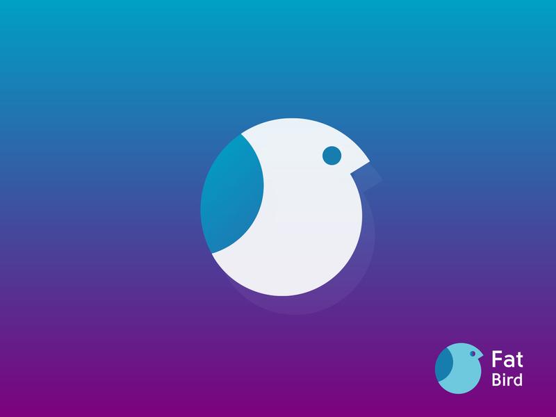 Fat Bird Logo animal minimalist logo branding communication corporate illustration colorful bird game art game app game human professional creative logo design business health modern logo flat logo minimalyze