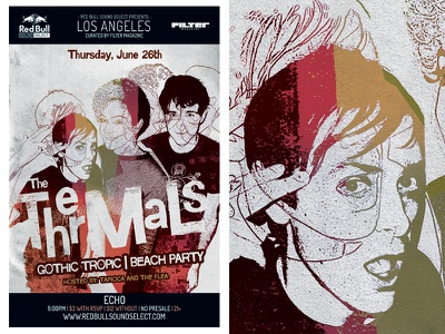 The Thermals For Red Bull Sound Select red bull sound select the thermals gigposter