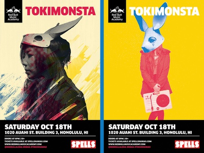 RBMA x Tokimonsta x Hawaii Poster Comps red bull music academy hawaii tokimonsta