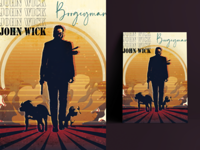 John Wick poster photoshop texture illustrator cc poster retro design retro johnwick artwork colorful illustration graphic design
