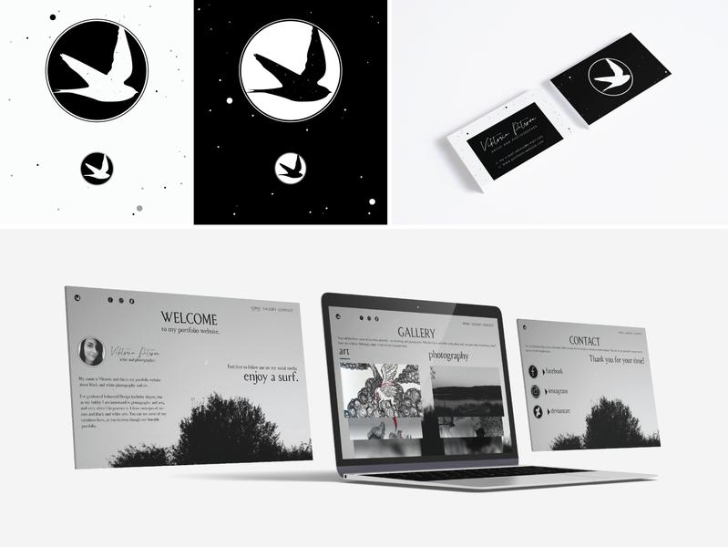 Personal logo idea mockup psd art photography simple swallow mockup webdesign blackandwhite black portfolio website photoshop design graphic graphic design logo vector illustrator cc