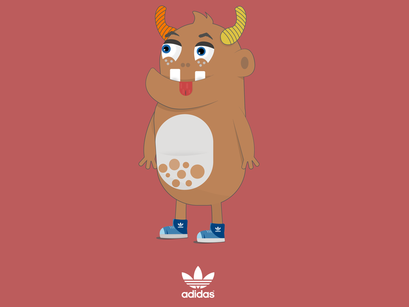 Donkey Monster infographic design doodle character concept design character illustraiton
