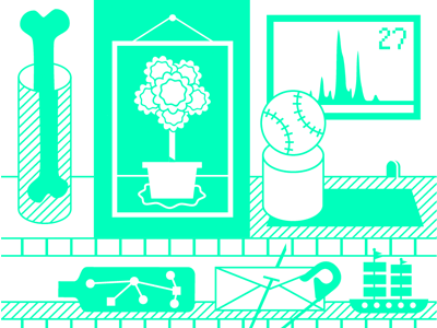 Part of a poster i am working on bone icons neon illustration fun baseball plant frame pin ship