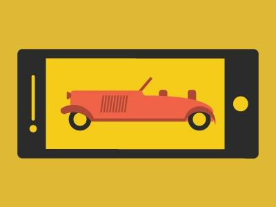 A little part of a bigger thing pt.2 iphone icon illustration fun car