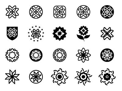 Explore! Ahoy! flower simple icon logo
