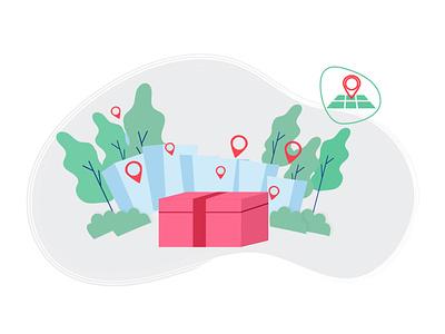 Intro design delivery location ui design uidesign user interface interface intro page intro screen intro app design app characterdesign ui vector illustrator design 2d illustration character