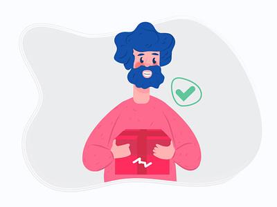 intro app received his box art recived get customer userinterface user app design app ui app store app application mobile ui ui vector illustrator 2d design illustration character