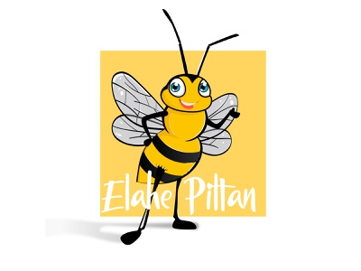 bee bee logo logo animal vector characterdesign yellow application app design illustrator design 2d character illustration
