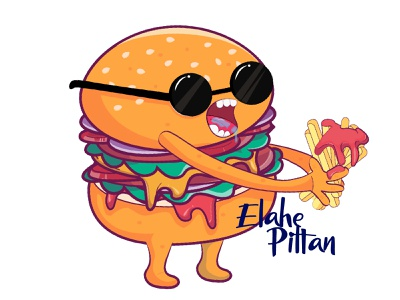 Mr. Hamburger hamburger vector characterdesign character illustrator design 2d illustration