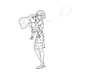 MOTHER mobile app design 2d mobile ui characterdesign ux app vector illustrator character illustration