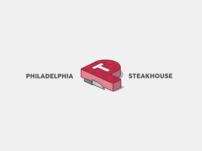 Philadelphia Steakhouse Logo daily logo challenge dailylogochallenge vector logo icon design branding illustration