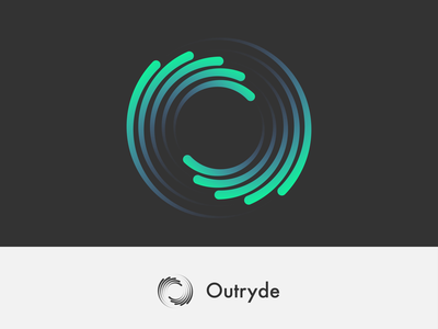 Outryde Swirl Logo logotype minimal vector logo icon design branding illustration