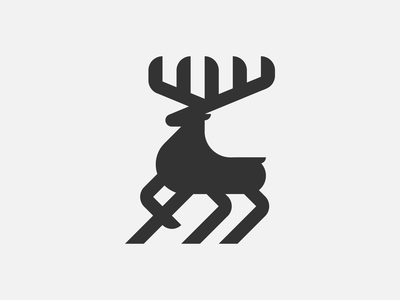 Deer Logo deer logo deer vector logo icon design branding illustration