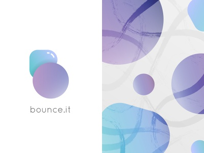 Bounce.it Logo branding icon illustration logodesign logos bounce