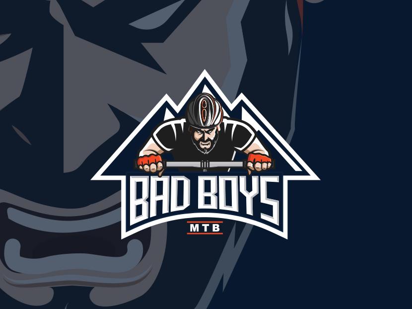 Bad Boys Logo mascot logo cyclists sport logo design sport logo mtb minimalist logo vector modern logo logo logo design