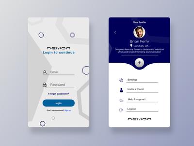 Nemon App Mockup