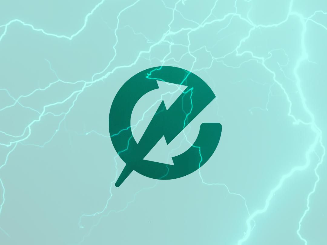 Electricity Exchange Logo icon design e arrows service branding icon logo design illustrator green ecology lightning power energy electricity electric
