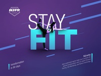 NJFP - Stay Fit - advertisement Dessign