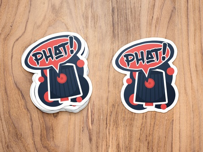Graffiti Stickers pt.3: Phat! balanscape vector graphic design phat sticker design sticker purple orange logo illustration icon hip hop graffiti design