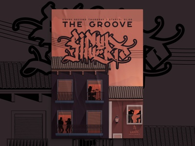 The Groove | Poster balanscape posters poster poster design poster illustration illustrations illustration digital illustration art illustration illustration design illustrator urban art music music poster city event event poster design urban design