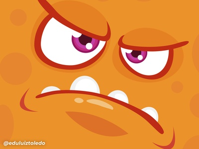 Orange and angry monster!