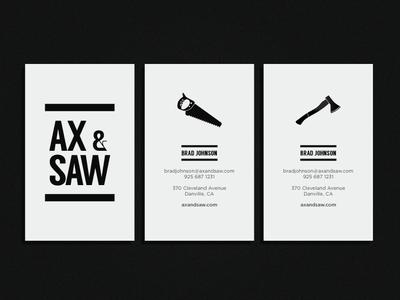 Ax & Saw Brand Design business card design identity brand