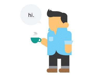 Hi, I'm Alex illustration vector flat