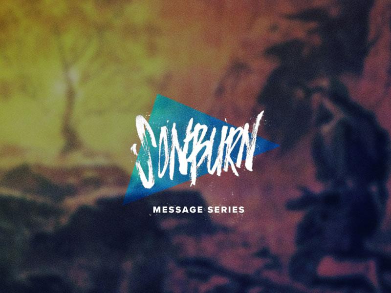 SonBurn Message Series hand lettering type brush pen ink