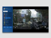 PS4 In-Game Social Widget