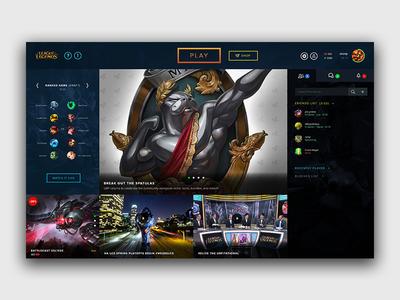 League of Legends Client Redesign league of legends lol ui design ux game client design