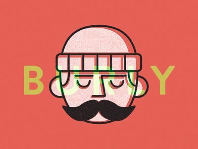 Burly Man print design illustration