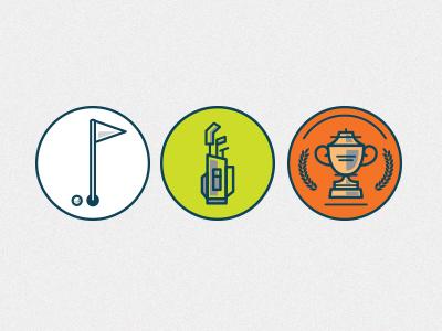 Golf Icons flat illustration icons golf