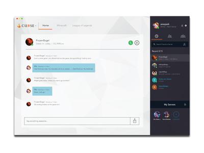 Curse Voice Client games gaming client chat design