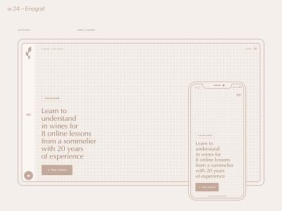 w.24 – Enograf flat website web ux ui typography minimal design