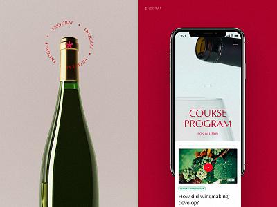 Program/mobile (Enograf) art flat website web ux ui typography minimal design