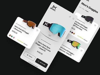 Anon shop graphic design flat art app ui ux typography minimal design