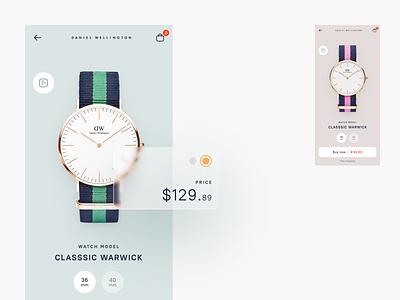 Daniel Wellington – Store concept web typography art app illustration graphic design ux ui minimal design